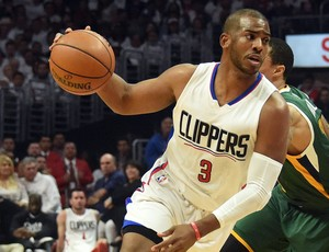 Chris Paul Jazz x Clippers NBA (Foto: Reuters)