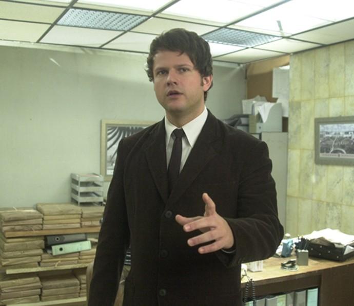 Em sete episódios, 'Os Aspones' revelava o cotidiano de um grupo que trabalhava em uma repartição pública. E Selton Mello viveu Tales, o novo chefe metódico da repartição (Foto: Gianne Carvalho / TV Globo)