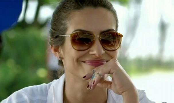 Os óculos escuros de Bianca levaram a prata da Cat da semana (Foto: Divulgação/TV Globo)