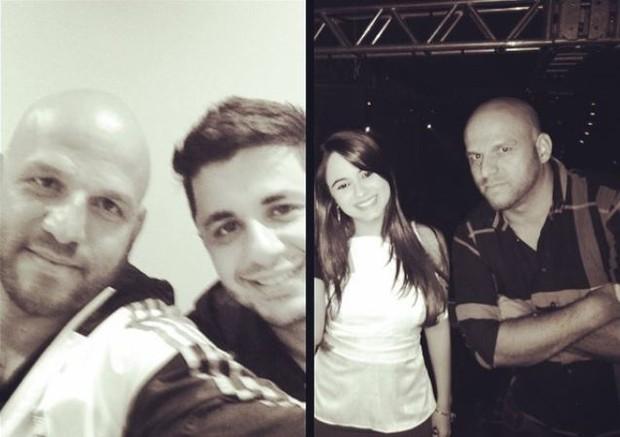 Ronaldo Miranda Ribeiro com Cristiano Araújo e Alana (Foto: Instagram / Reprodução)