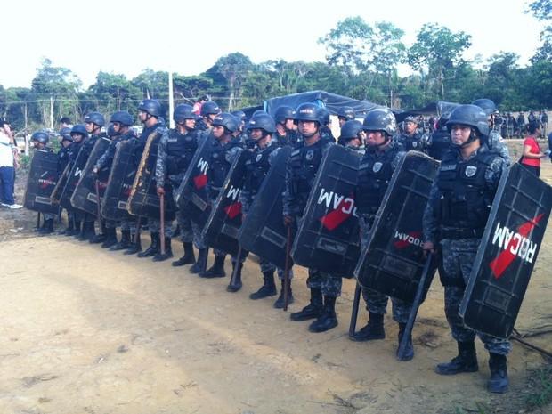 Ao todo, cerca de 400 policiais estarão mobilizados (Foto: Girlene Medeiros/G1 AM)