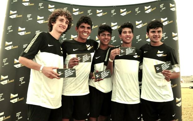 Vencedores da etapa de Curitiba da peneira A Chance da Nike (Foto: Daniel Cardoso)