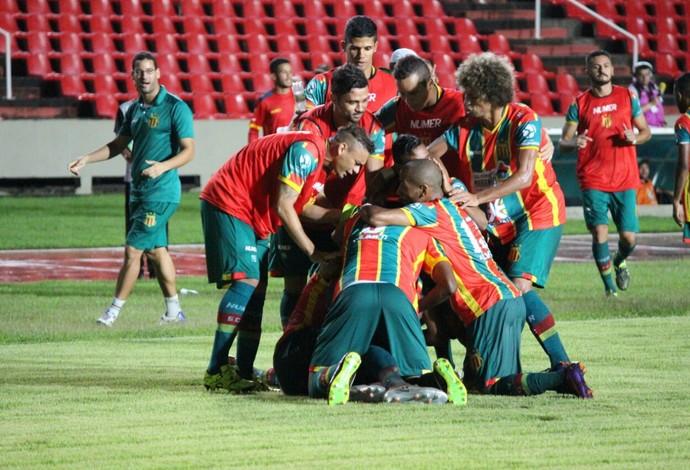Sampaio venceu o Guarani-CE e garantiu vaga inédita na Copa do Brasil (Foto: Lucas Almeida/L17 Comunicação)