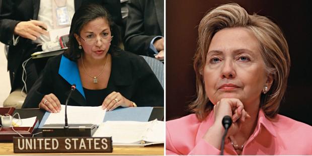 CONFIANÇA E DESCONFIANÇA Susan Rice (à esq.) e a secretária de Estado americana Hillary Clinton (à dir.). Hillary estava cética em relação às posições de Ahmadinejad e Susan sentia necessidade de informações confiáveis (Foto: -)