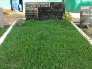 Corpo de José Janene está enterrado no Cemitério Islâmico de Londrina (Foto: Rodrigo Saviani/G1)