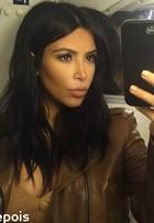 Kim Kardashian corta os cabelos e compartilha resultado na web