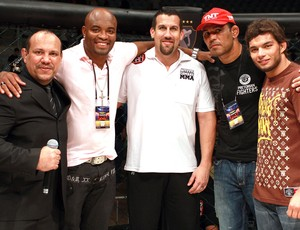 Olivar Leite, Anderson Silva, Big John McCarthy, Rodrigo Minotauro e Miltinho Vieira, Bitetti Combat 4 (Foto: Marcelo Alonso)