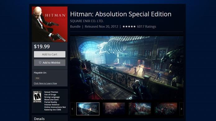 Adicione o Hitman: Absolution ao seu carrinho e siga os passos para comprar (Foto: Reprodução/Tais Carvalho)