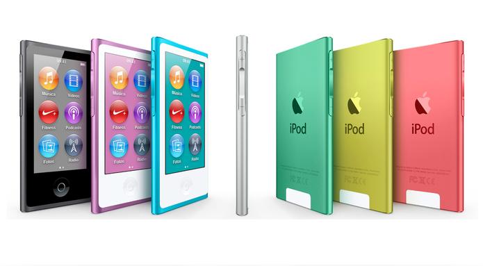 iPod Nano 7G equipado com Bluetooth e tela Multi-Touch de 2,5 polegadas (Foto: Divulgação/Apple)