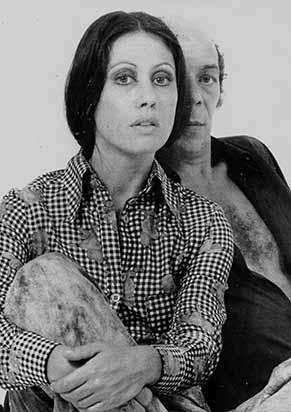 Dina Sfat e Ítalo Rossi em 'Doroteia', em 1972 (Foto: acervo pessoal )
