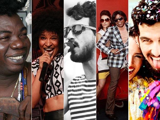 Baile terá Aloisio Menezes, Larissa Luz, Pedro Pondé, Limusine e Bailinho de Quinta (Foto: Montagem/G1)