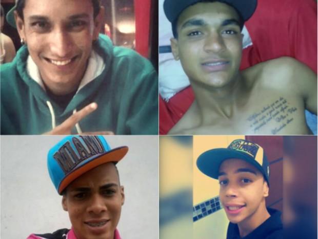 Felipe Santos, Adriel Mascarenhas, Reginaldo Júnior e Igor morreram em acidente (Foto: Reprodução/EPTV)