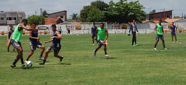 Treino do CSP antes da decisão da Copa Paraíba (Foto: Expedito Madruga)