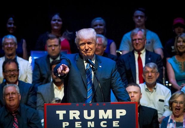 Donald Trump, candidato republicano à presidência dos EUA (Foto: Sarah Rice/Getty Images)