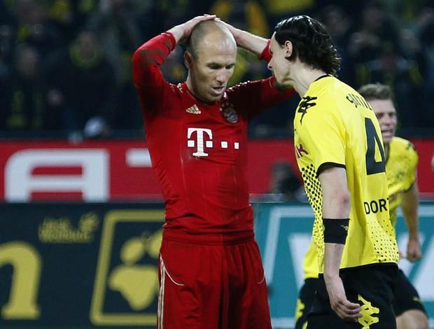 robben bayern munique x Borussia Dortmund  (Foto: Reuters)