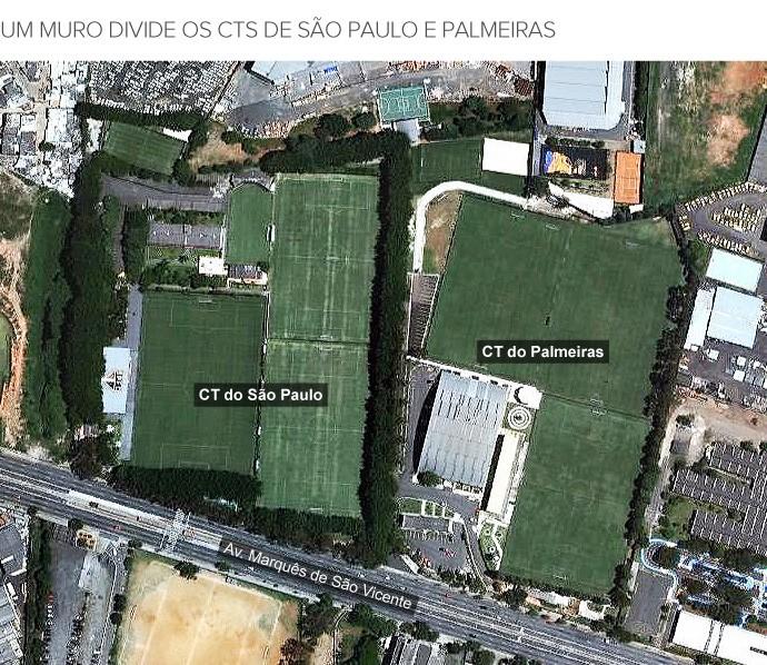info CTs São Paulo e Palmeiras (Foto: infoesporte)