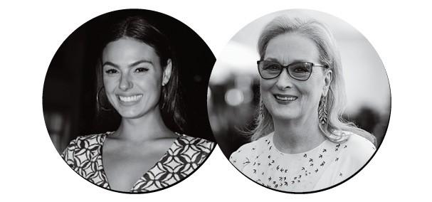 Isis Valverde <3  Meryl Streep (Foto: Divulgação)