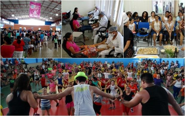 Mães são homenageadas no 'Saúde de Rua' da Rede Amazônica (Foto: Onofre Martins/Rede Amazônica)