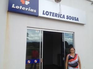 Oliveira de Fátima - mulher lotérica (Foto: Bernardo Gravito/G1)