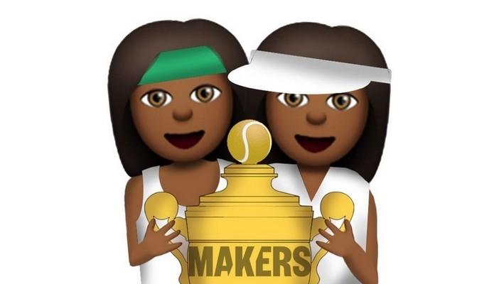 Femoji de Venus e Serena Williams (Foto: Reprodução/Makers)