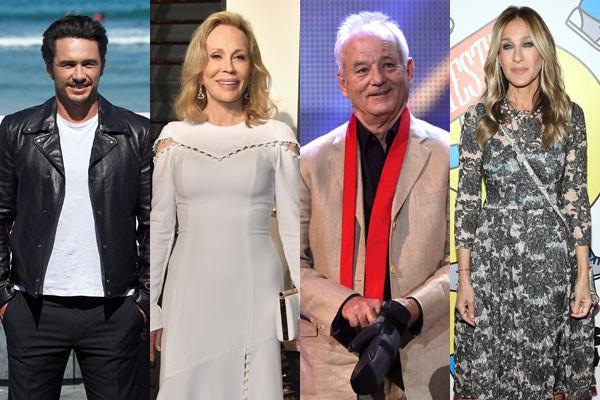 James Franco, Faye Dunaway, Bill Murray e Sarah Jessica Parker já tiveram os seus desentendimentos durante filmagens no set (Foto: Getty Images)
