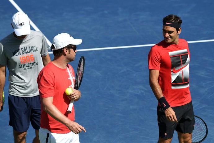 Roger Federer US Open Treino (Foto: USTA/Pete Staples)