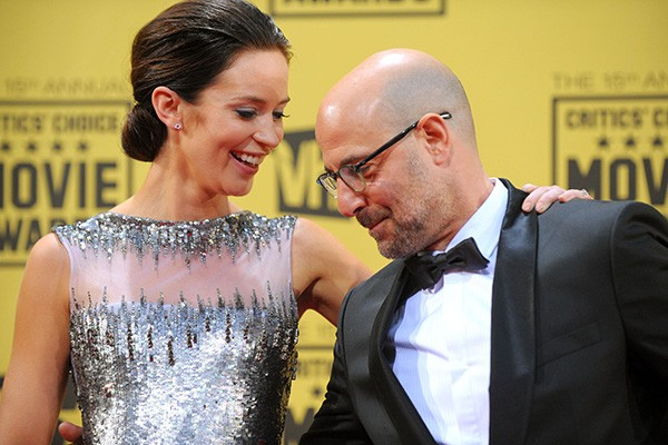 Emily Blunt e Stanley Tucci (Foto: Getty Images)