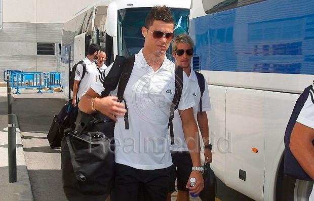 Cristiano Ronaldo viaja com o Real para os EUA (Foto: Reprodução / Site oficial)