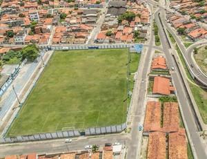Estádio Sabino Ribeiro, vista aérea, Confiança (Foto: Filippe Araújo)
