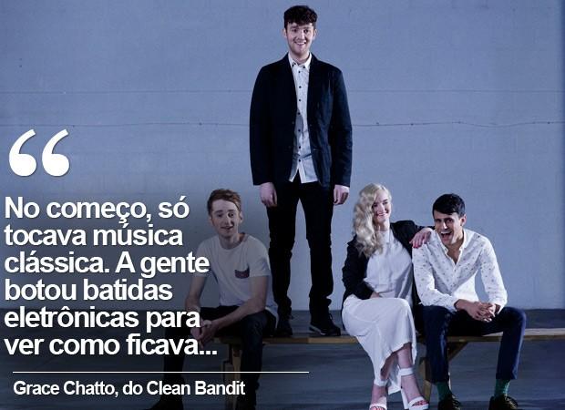 A banda de eletrônica Clean Bandit (Foto: Divulgação/Warner)