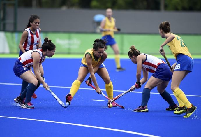 Brasil x Paraguai - hóquei sobre a grama feminino - evento-teste rio 2016 (Foto: André Durão)