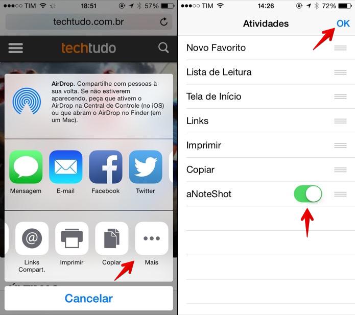 Ativando extensão do aplicativo para o Safari (Foto: Reprodução/Helito Bijora)