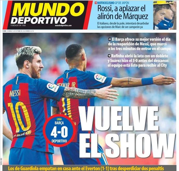 Capa Mundo Deportivo Neymar Messi (Foto: Reprodução)