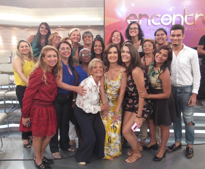 Plateia nos bastidores do Encontro (Foto: Priscilla Massena/Gshow)