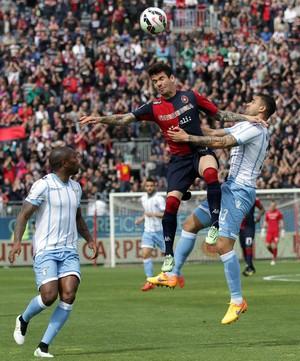 Diego Farias, atacante do Cagliari (Foto: AP Photo/Giuseppe Ungari, Ansa)