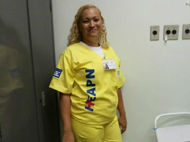 Ellizangela trabalhava como técnica de enfermagem (Foto: Reprodução / Internet)