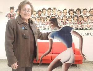 Dona Albertina Homenagem para Leônidas da Silva São Paulo (Foto: David Abramvezt)