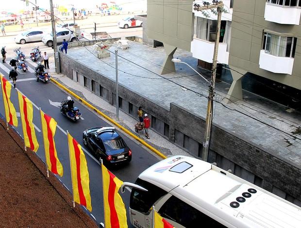 teste batedores hotel da seleção espanha (Foto: Victor Canedo)