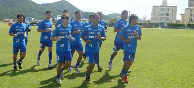 Avaí faz treino físico no CFA (Foto: Vandrei Bion / divulgação Avaí)