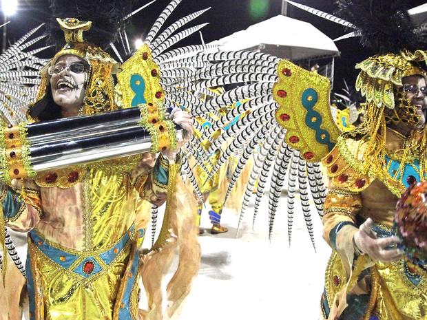 Os Feras apostam em temas egípcios no Carnaval 2016 (Foto: Flora Dolores / O Estado)