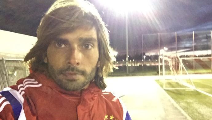 Angelo passou uma semana fazendo intercâmbio no Bayern de Munique (Foto: Angelo Berger/Arquivo Pessoal)