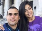 Aline Riscado comemora 1 ano de namoro com Felipe Roque: 'Te amo'