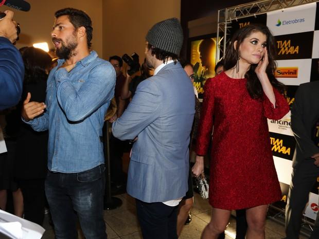 Cauã Reymond, Mauro Lima e Alinne Moraes em première em São Paulo (Foto: Manuela Scarpa/ Foto Rio News)