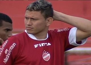 Rafael Oliveira, atacante do Vila Nova (Foto: Reprodução/TV Anhanguera)