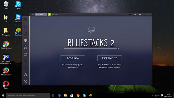 BlueStacks 2 é iniciado com telas de boas-vindas logo após a atualização (Foto: Reprodução/Elson de Souza)