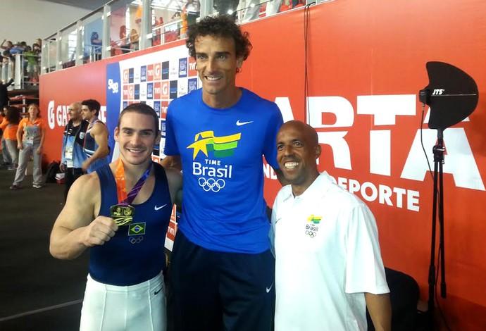 Zanetti, Emanuel e tecnico do zanetti (Foto: Marcello Pires)