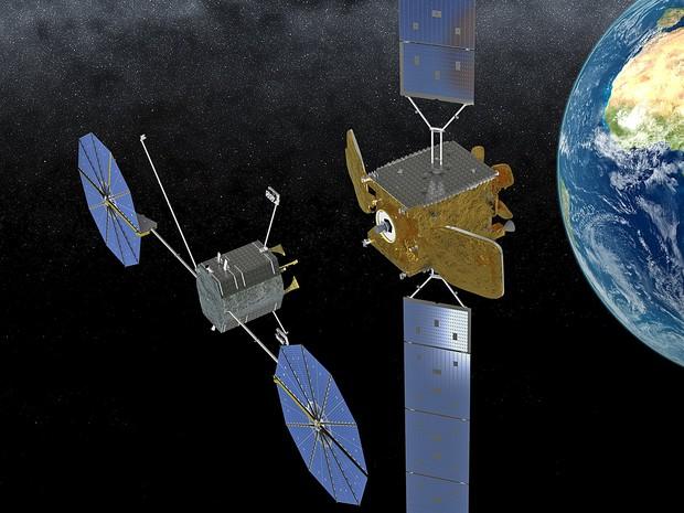 A espaçonave MEV, da Orbital ATK, capaz de abastecer satélites em órbita (Foto: Orbital ATK)