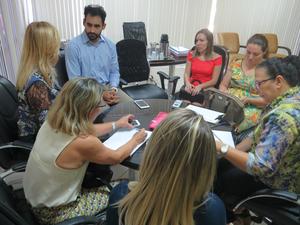 Representantes do Ministério da Saúde se reuniram com direção da maternidade e secretário de Saúde (Foto: Raylanderson Frota/assessoria)