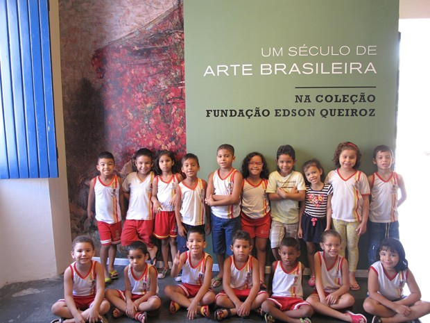 Os alunos da educação infantil da rede pública de Sobral conheceram 60 obras de consagrados nomes nacionais e internacionais das artes plásticas (Foto: Divulgação)