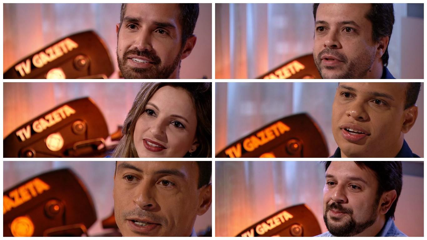 Jornalistas da TV Gazeta relembram melhores momentos (Foto: Divulgação/ TV Gazeta)